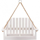 Audubon/Woodlink - Rustic Farmhouse Platform Swing Feeder - White
