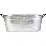 Panacea Products - Oval Washtub Planter - Galvanized - 16 Inch