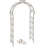Deer Park Ironworks - Candy Cane Metal Arch - Natural Patina