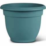 Bloem - Bloem Ariana Planter With Grid - Bermuda Teal - 8 Inch