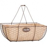 Panacea Products - Herb Basket With Burlap Liner - Rust W/Burlap - 14 Inch