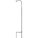 Hookery - Wrought Iron Crane - Black - 81 Inch