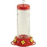 Audubon/Woodlink - Feeder Hummingbird Swirl Pink Glass - Pink / Clear - 30 Ounce