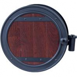 The Ames Company - Wall Mount Hose Reel W/Whiskey Barrel Finish - Brown - 150Ft Capacity