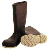 Tingley Rubber Corp - Pvc Knee High Boots With Plain Toe - Brown - 8