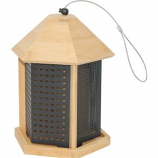 WOODSTREAM WILDBIRD - PERKY PET BAMBOO TRIO BIRD FEEDER-NATURAL-3 LB
