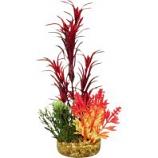 Blue Ribbon Pet Products - Color Burst Florals Garden Bouquet Plant - Red - Medium