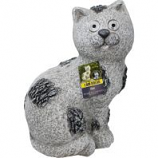 Alpine Corporation - Solar Slate Cat Garden Statue With Led Lights