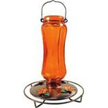 Woodstream Hummingbird - Glass Vintage Oriole Feeder - Orange - 24 Oz