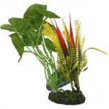 Blue Ribbon Pet Products - Tropical Gardens Alocasia Variegated Cluster - Green - Small