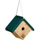 Welliver Outdoors - Wren House Cedar - Natural/Green - 7.5X8.25X5.5