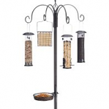 North States Industries - All-In One Birdfeeding Station - Black /Gray - 7 Foot